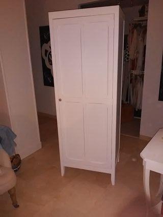 armario blanco de madera de mango y ancho 75