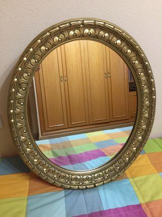 Espejo poliuretano ovalado