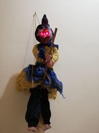 Bruja Halloween con luz y carcajadas con sensor