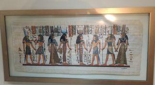 Cuadro Dioses de Egipto papiro