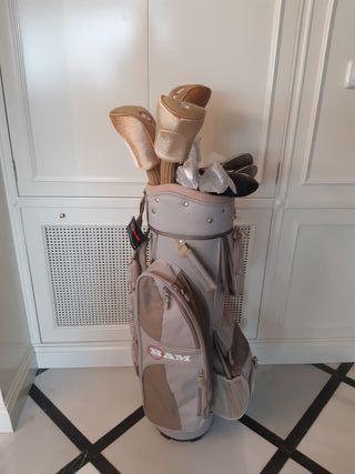 Bolsa y palos de golf mujer a estrenar