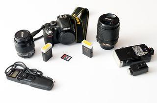 Cámara Nikon D5100+objetivo Nikon 18-105VR+extras