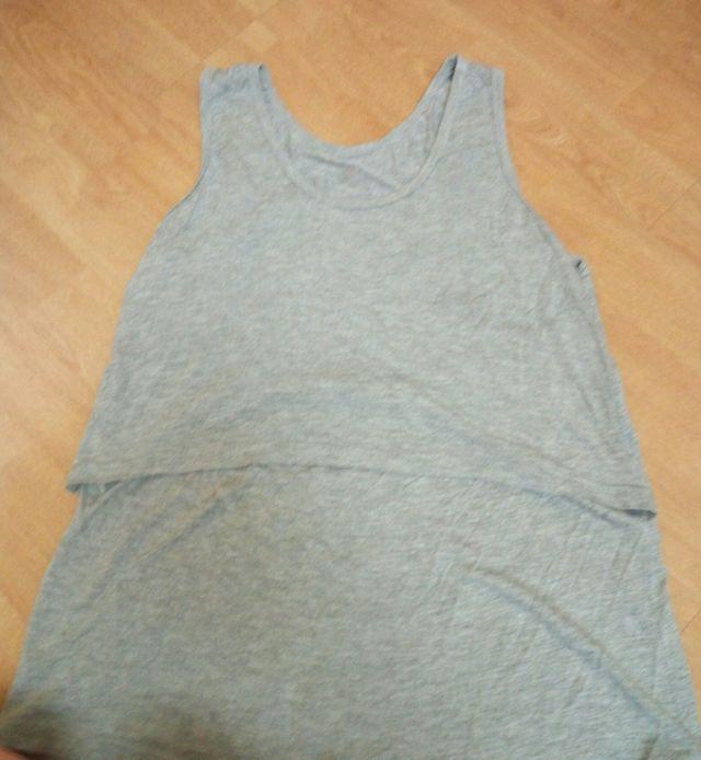 camiseta Lactancia gris