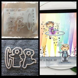 magica clear stamps + Troqueles Sellos silicona