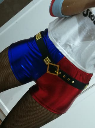 Pantalon corto HARLEY QUINN para disfraz