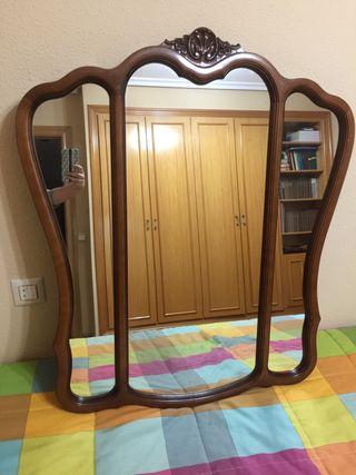 Espejo antiguo madera macizo