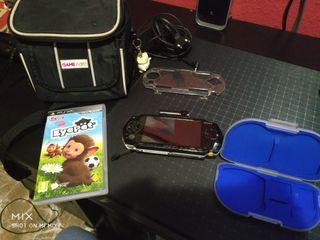 Psp con juego, GoCam y bolso