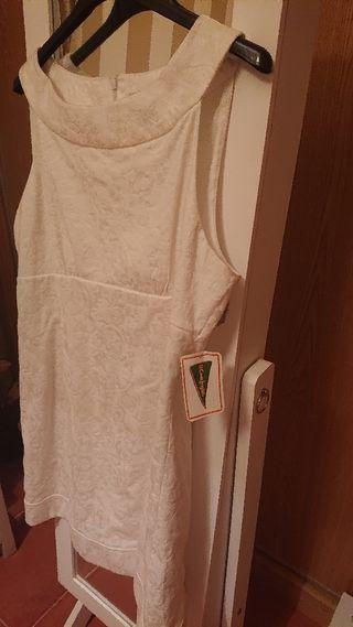 nuevo Precioso vestido Blanco perlado fórmulaJoven