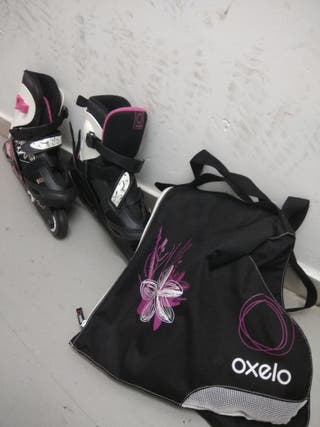 patines en linea y bolsa