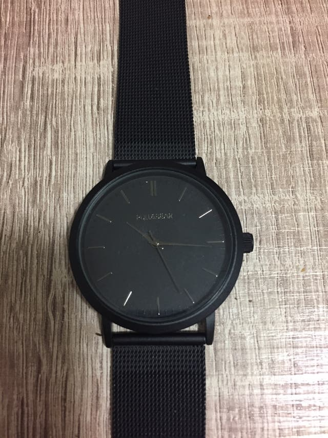 Reloj de vestir negro de pull and bear