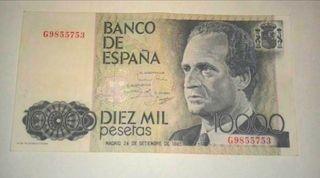 billete 10000 pesetas perfecto estado.