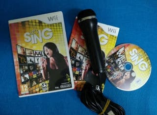 Wii - Let's Sing + Microfono