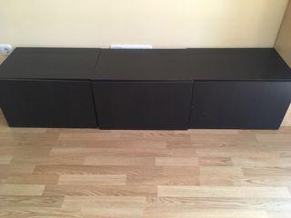 Módulos Ikea en wengué