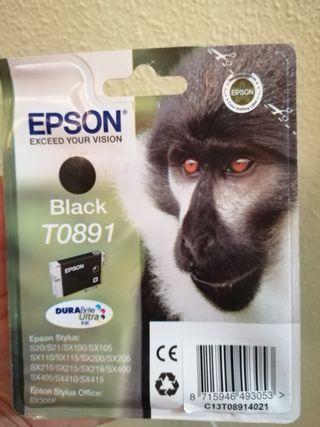 Cartucho de tinta EPSON negro T0891