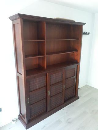 Librero madera maciza