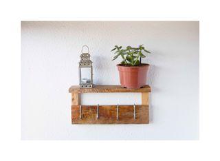 Estante/madera/perchero/pared/rustico/hogar/jardin