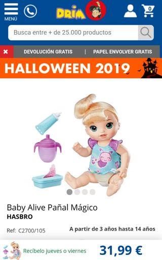 baby alive pañal magico