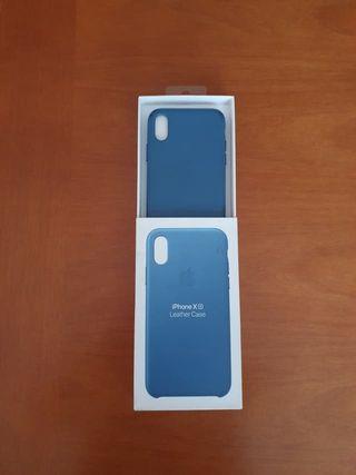 Funda original Apple Leather Case iPhone X