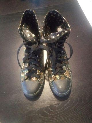 zapatillas camuflaje tipo converse de bota
