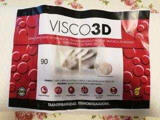 2 almohadas NUEVAS. visco3D y viscoacticarbon