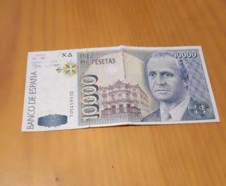 billete 10000 pesetas intacto nuevo