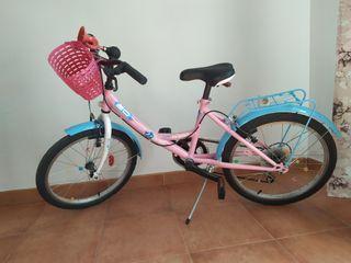 """bicicleta niña 20""""/Hasta 8años."""
