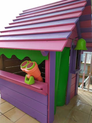 casita madera niños