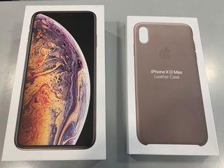 Iphone XS Max 64GB Oro con funda piel original