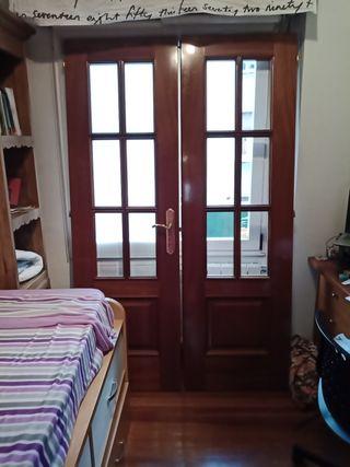2 puertas madera maciza