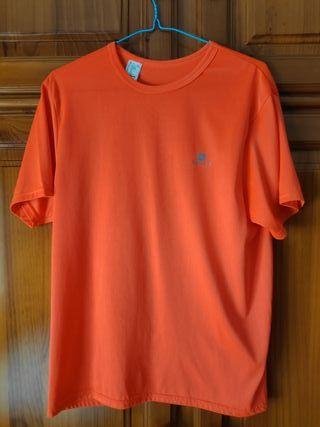 Camiseta Naranja Fluorescente Domyos