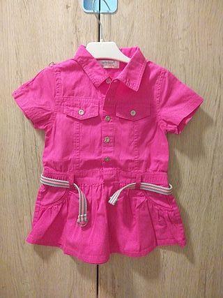 ropa niña vestido vaquero rosa