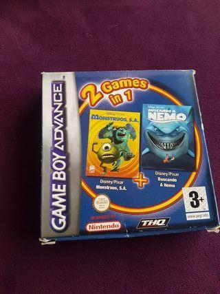 juego Game Boy Advance monstruos y Nemo