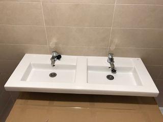 lavabo doble seno