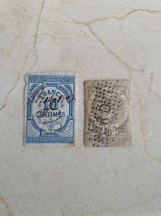 Sellos fiscal Francés 1871 y 1892