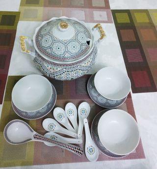 set 12 servicios sopas porcelana a estrenar