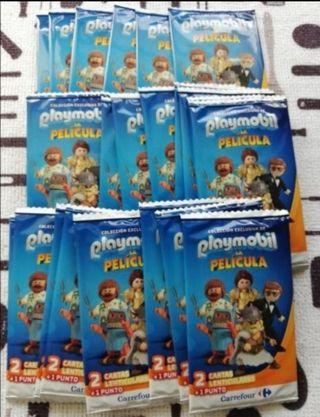 85 sobres cartas Playmobil
