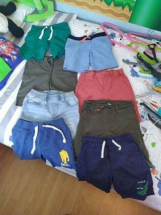 pantalones cortos niño 5-6 años