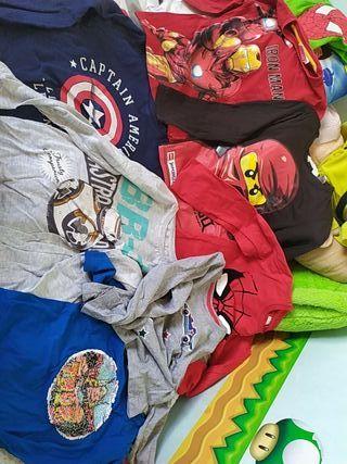 lote camisetas niño 6 años