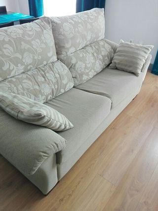 Sofa cama dos plazas respaldo inclinable