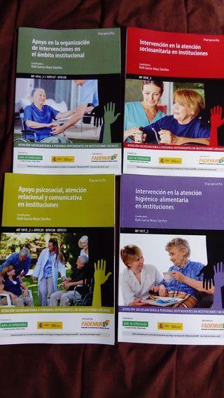 4 libros paraninfo, atención sociosanitaria