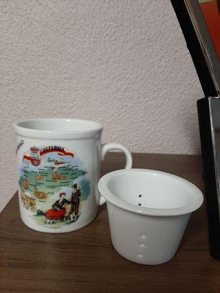 Taza para hacer té.De Cantabria