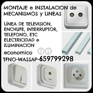 INSTALACION ENCHUFE-TV-TFNO