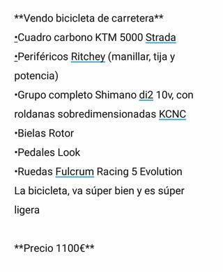 Bicicleta carretera KTM 5000 STRADA