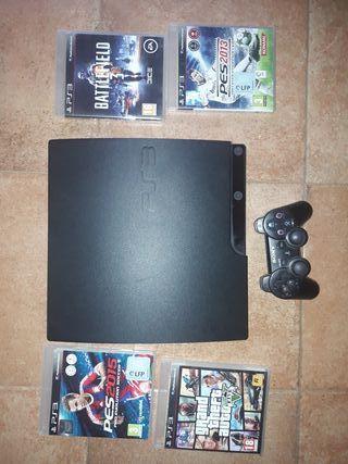 play station 3 + 4 juegos y mando
