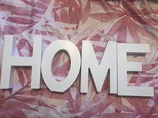Letras decorativas de madera HOME