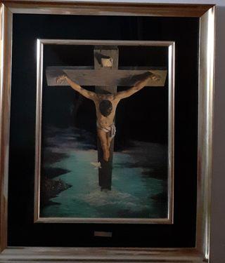 Cuadro esmalte Cristo de Dali