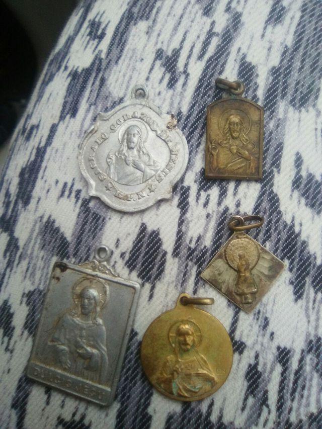 lote medallas antiguas religiosas
