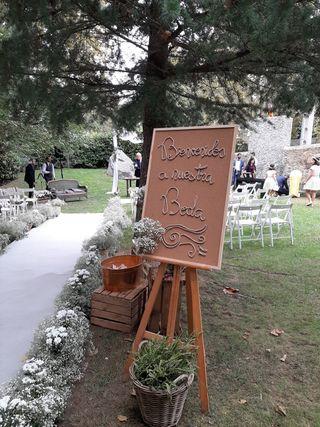 Alfombra boda