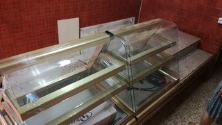 mostrador y vitrina refrigeradora para confitería