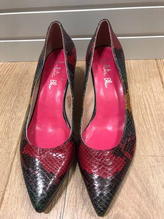 Zapatos serpiente lolita blu